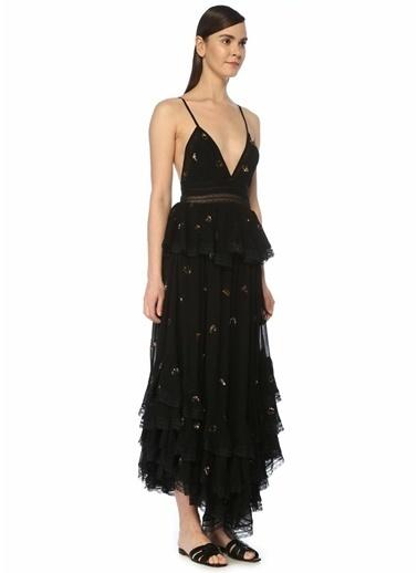 Rococo Sand Plaj Elbisesi Siyah